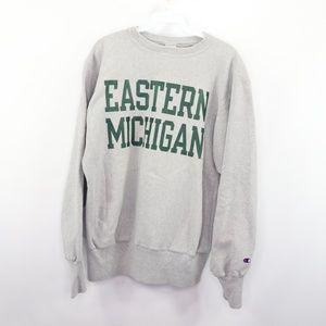 90s Champion Mens Large Eastern Michigan Sweater
